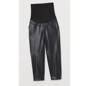 NWT Maternity H&M Ankle Faux Leather Pants S
